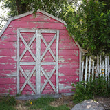 Red Barn Country Rural Scene Printed Backdrop - 6354 - Backdrop Outlet