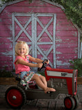 Red Barn Country Rural Scene Printed Backdrop - 6354