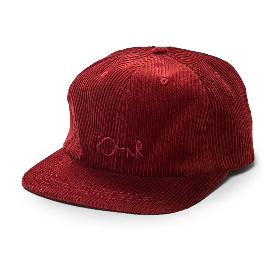 Polar 6 Panel Hat Cord Red