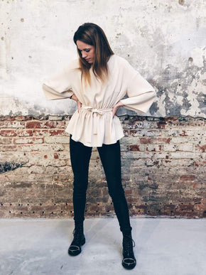 Standwhite Bowed Lounge Blouse