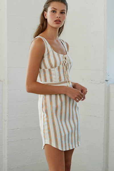 Zula Corset Stripe Dress SOLD OUT