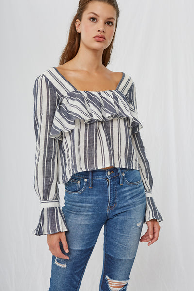 Leola Stripe Square Neck Blouse SOLD OUT