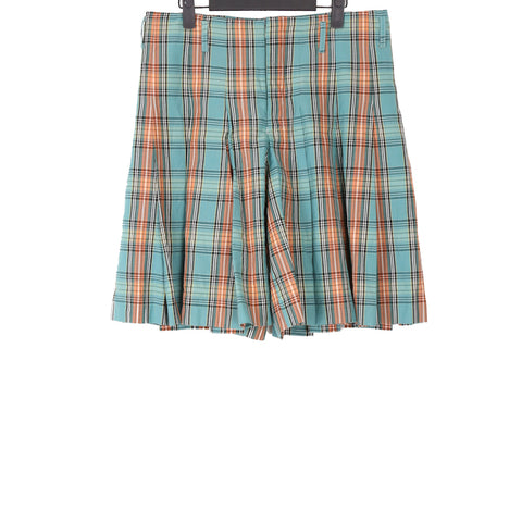 COMME DES GARCONS HOMME PLUS SS14 MULTICOLOUR CHECKED WOOL SHORTS