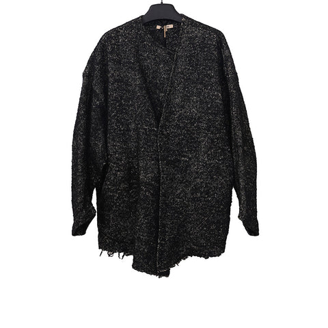 DAMIR DOMA 10AW WOOL BLEND OPEN ARMPIT SHORT OVERSIZED JACKET