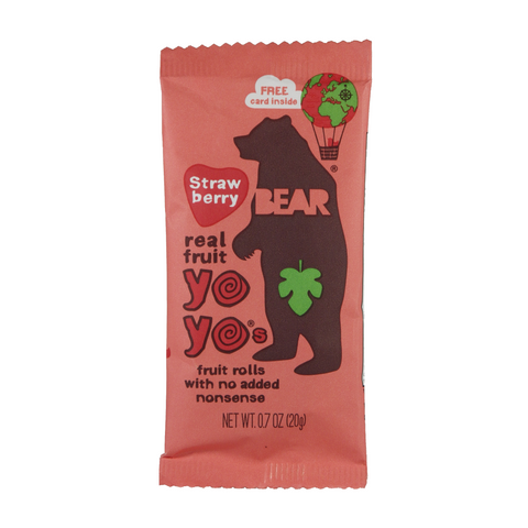 Bear - Yoyos Fruit Rolls - single serving paks