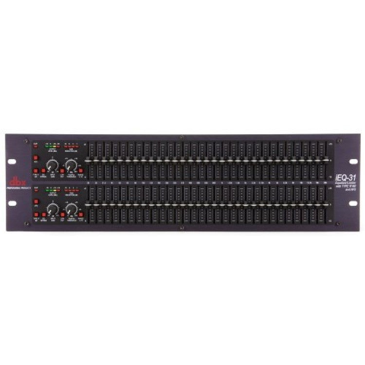 DBX iEQ31 Intelligent Dual 31 Band Graphic Equalizer with AFS