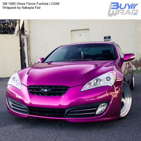 3M 1080 Gloss Fierce Fuchsia Wrap | G348