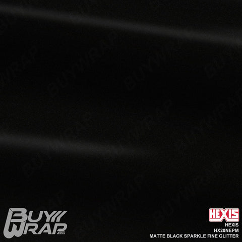Hexis HX20NEPM Matte Black Sparkle Fine Glitter Vehicle Vinyl Film