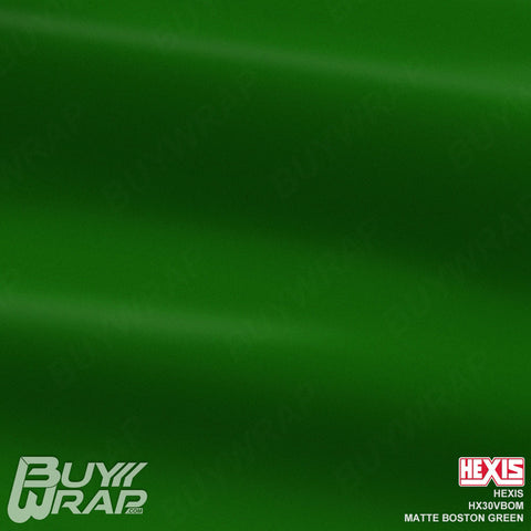 Hexis  HX30VBOMMatte Boston Green Wrap Vinyl Vehicle Wrapping Film