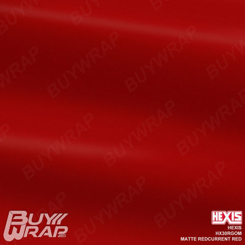 Hexis HX30RGOM Matte Redcurrent Red vehicle vinyl film