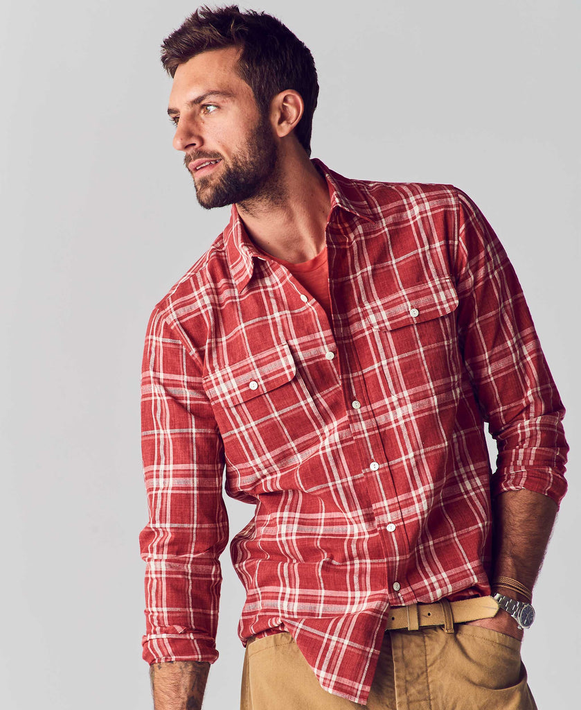 Grant Hemp Cotton Plaid Shirt