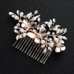 #03448188 Rose Gold Color Butterfly Design Comb