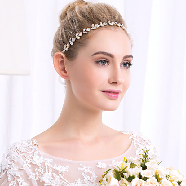 #04418229 Golden Color Ladies  Rhinestone, Alloy Headband