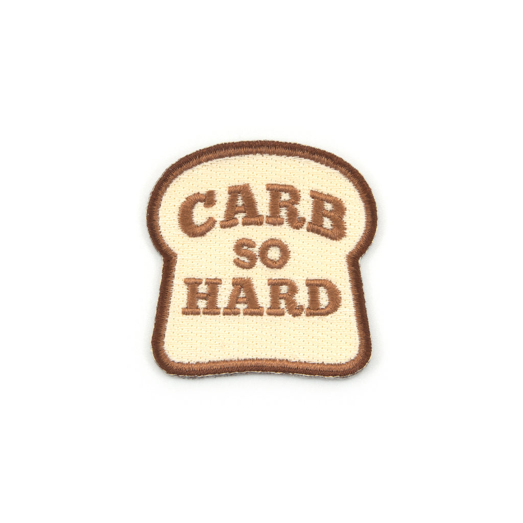 Carb So Hard Embroidered Iron-On Patch