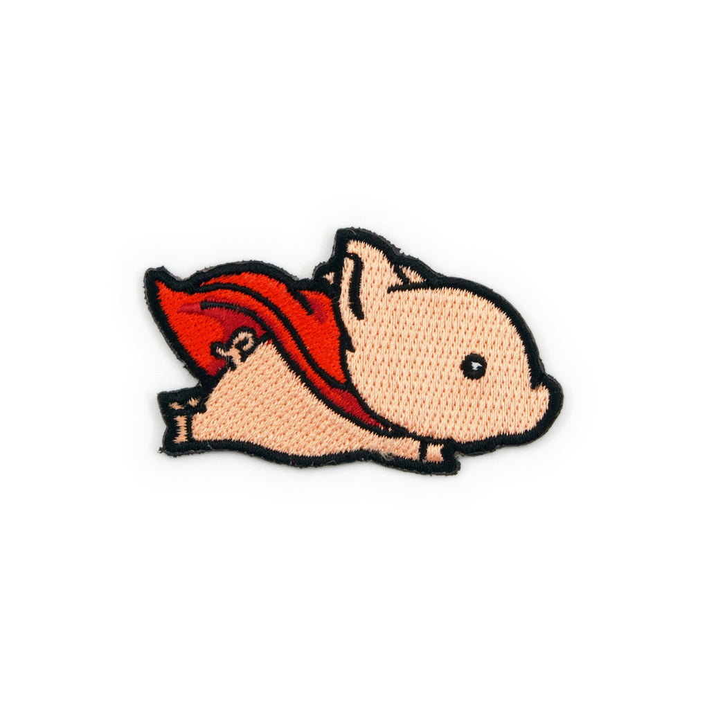 Flying Pig Embroidered Iron-On Patch