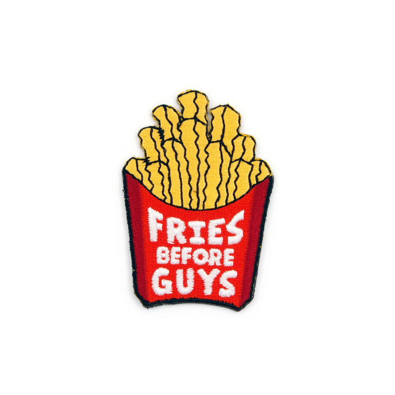 Fries Before Guys Embroidered Iron-on Patch