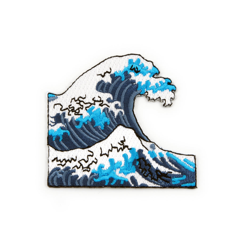 Great Ocean Wave Embroidered Iron-On Patch