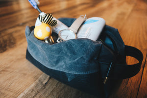 Waxed Canvas Dopp Travel Kit