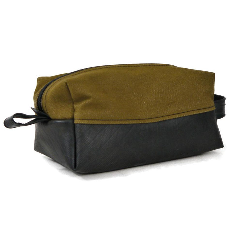 Brown Denim Dopp Kit