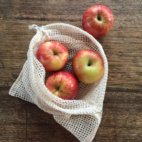 Organic Cotton Mesh Reusable Produce Bag 4pk
