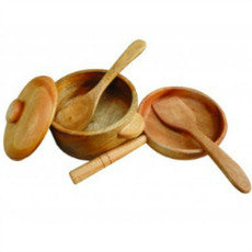 Mahogany Cooking Set