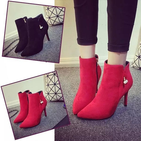 Womens Fashionable Charm Ankle Bootie Heels