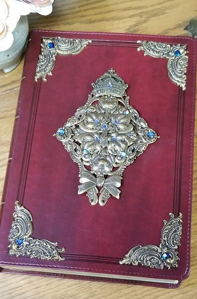 Jeweled KJV Super Giant Print Burgundy