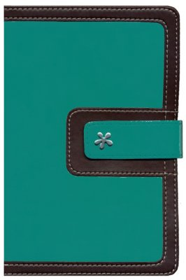 NIV Thinline Bible/Compact (Comfort Print)-Turquoise/Chocolate Leathersoft