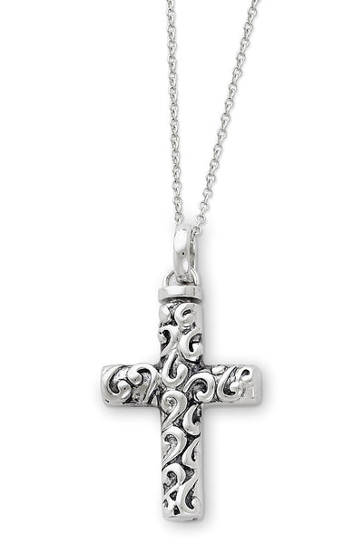 Scrolled Cross Remembrance Ash Holder