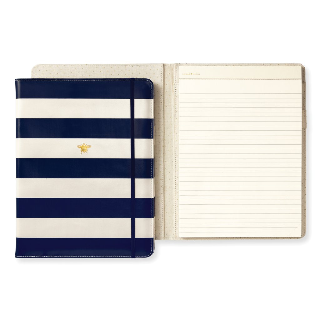 kate spade new york Notepad Folio - Navy Stripe