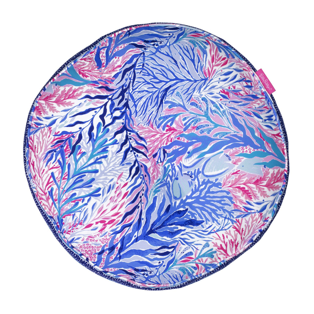 Lilly Pulitzer Round Pillow, Kaleidoscope Coral