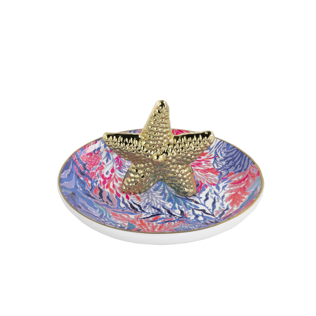 Lilly Pulitzer Ring Holder, Kaleidoscope Coral