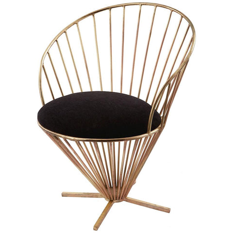 Iron Taper Wire Chair in Black