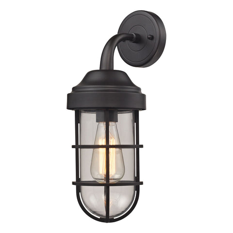 Seaport 1-Light Sconce in Oil Rubbed Bronze