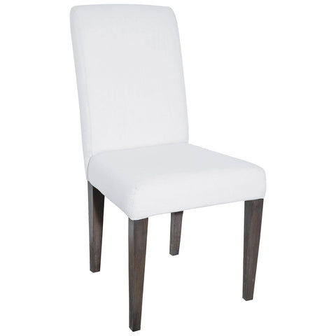Couture Covers Parsons Chair in Heritage Stain with White Wash