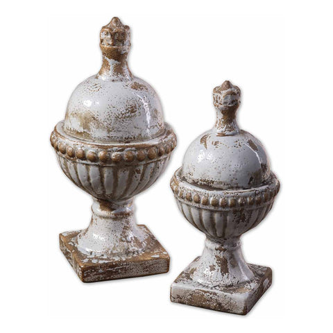 Sini Ceramic Finials, Set of 2