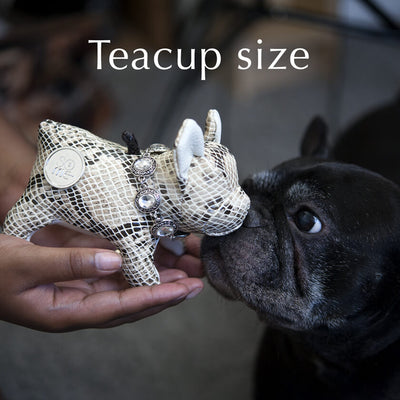 Rough Terrain, Cream, French Bulldog Standing Plush, Teacup/Small/Large