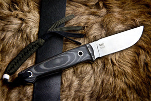 Nikki D2 Camping Knife With Satin Finish Kizlyar Supreme