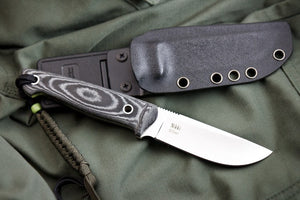 Nikki D2 Camping Knife With Satin Finish From Kizlyar Supreme With Sheath