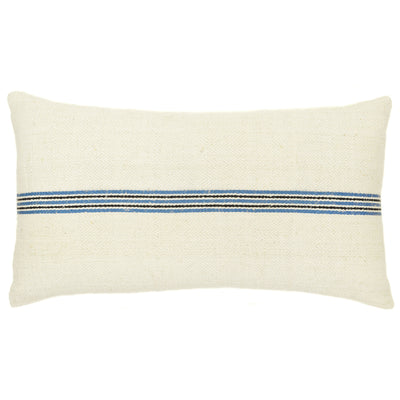 Blue/Black Stripe Vintage Grain Sack Pillow - A Southern Bucket