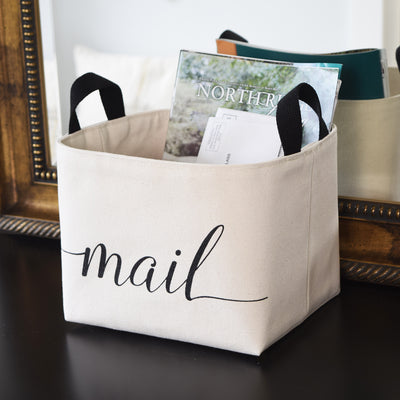 Mail Canvas Storage Basket - A Southern Bucket