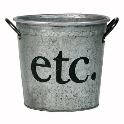 Etc. Galvanized Storage Bucket