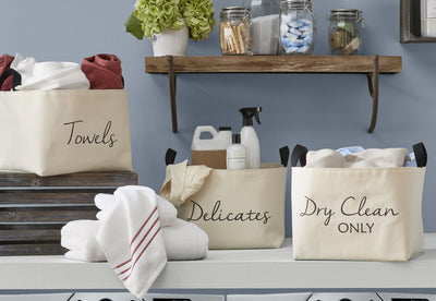 Dry Clean Only Canvas Storage Bins