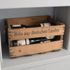 "Personalized Vintage Winey Crate ""Burkhardt-Obstsafte"""