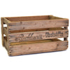 Vintage Wine Crate can be personalized