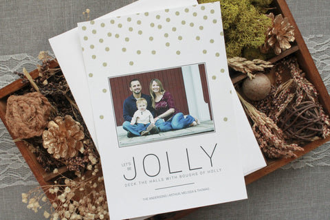 Copy of Let's be Jolly - Gold Glitter