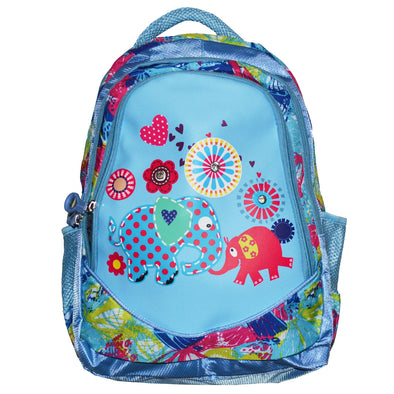 School Backpack Cool Elephants Blue