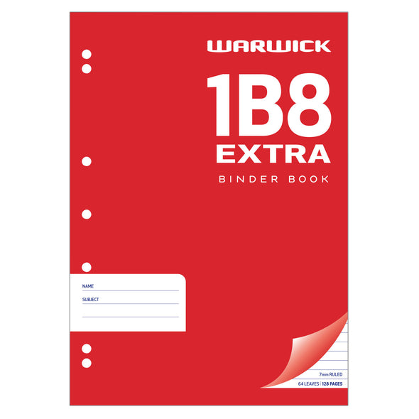 Warwick Exercise Book 1B8 Extra Punched 64 Leaf