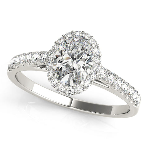 """Diamonds Galore""  Round Brilliant Diamond Ring with Channel Set Side Diamonds in 18K White Gold"