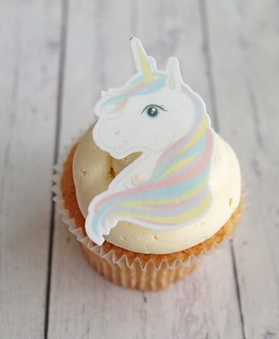 WAFER EDIBLE UNICORN TOPPERS